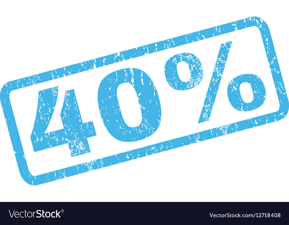 40 Percent Rubber Stamp
