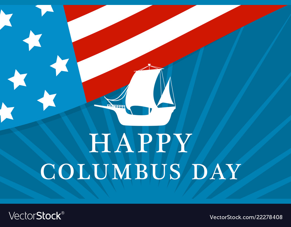 American columbus day concept background flat