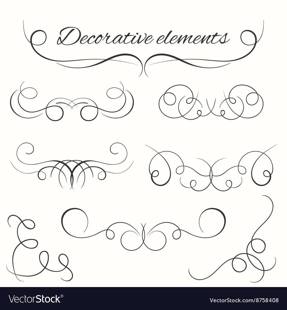 Hand drawn dividers set Decorative borders set