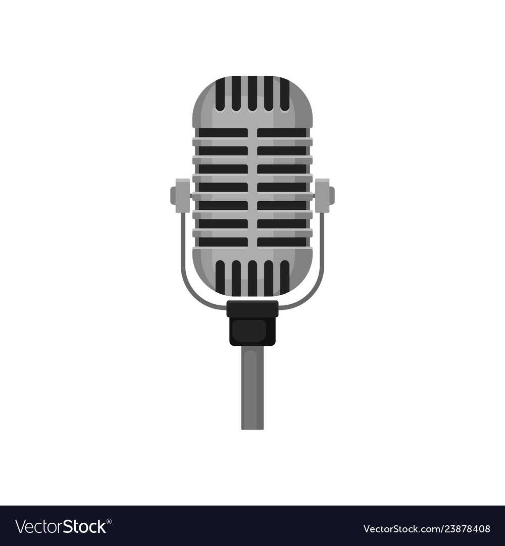 f026324a3 Vintage microphone for live performance Royalty Free Vector