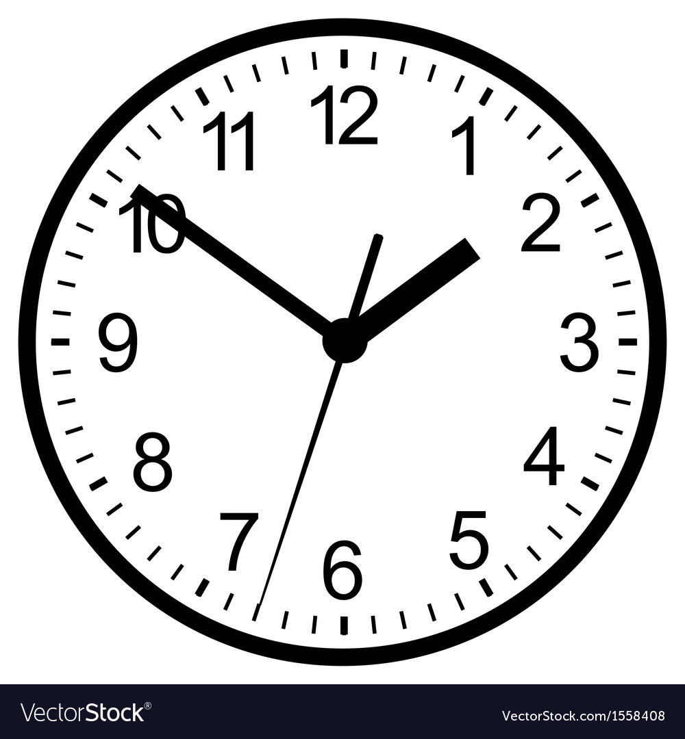 clock vector image Wall mounted digital clock Royalty Free Vector Image