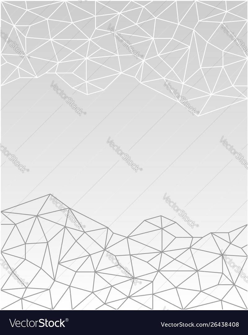 White gray geometric polygonal fractal background
