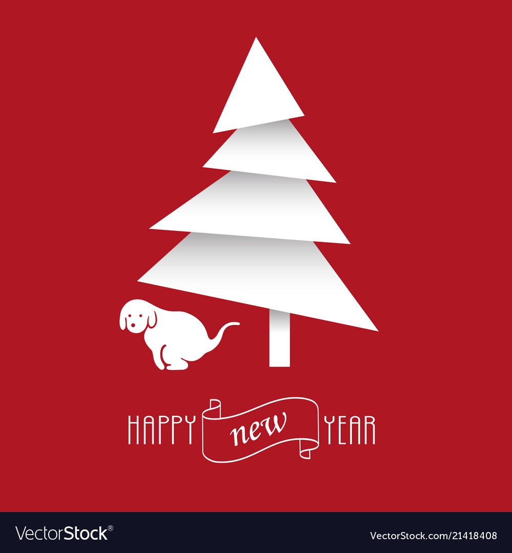Year of dog 2018 funny new year card