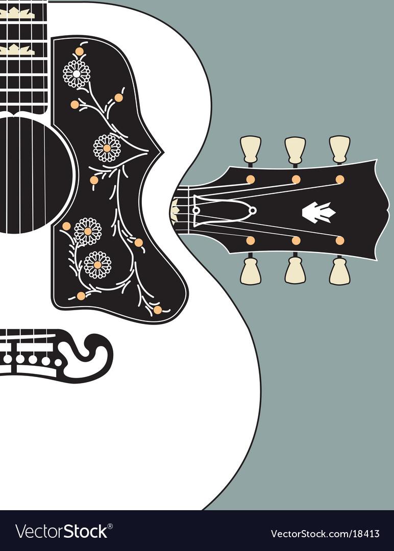 acoustic guitar bg w headstock royalty free vector image