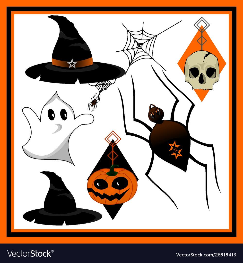 Halloween Clipart Royalty Free Vector Image Vectorstock