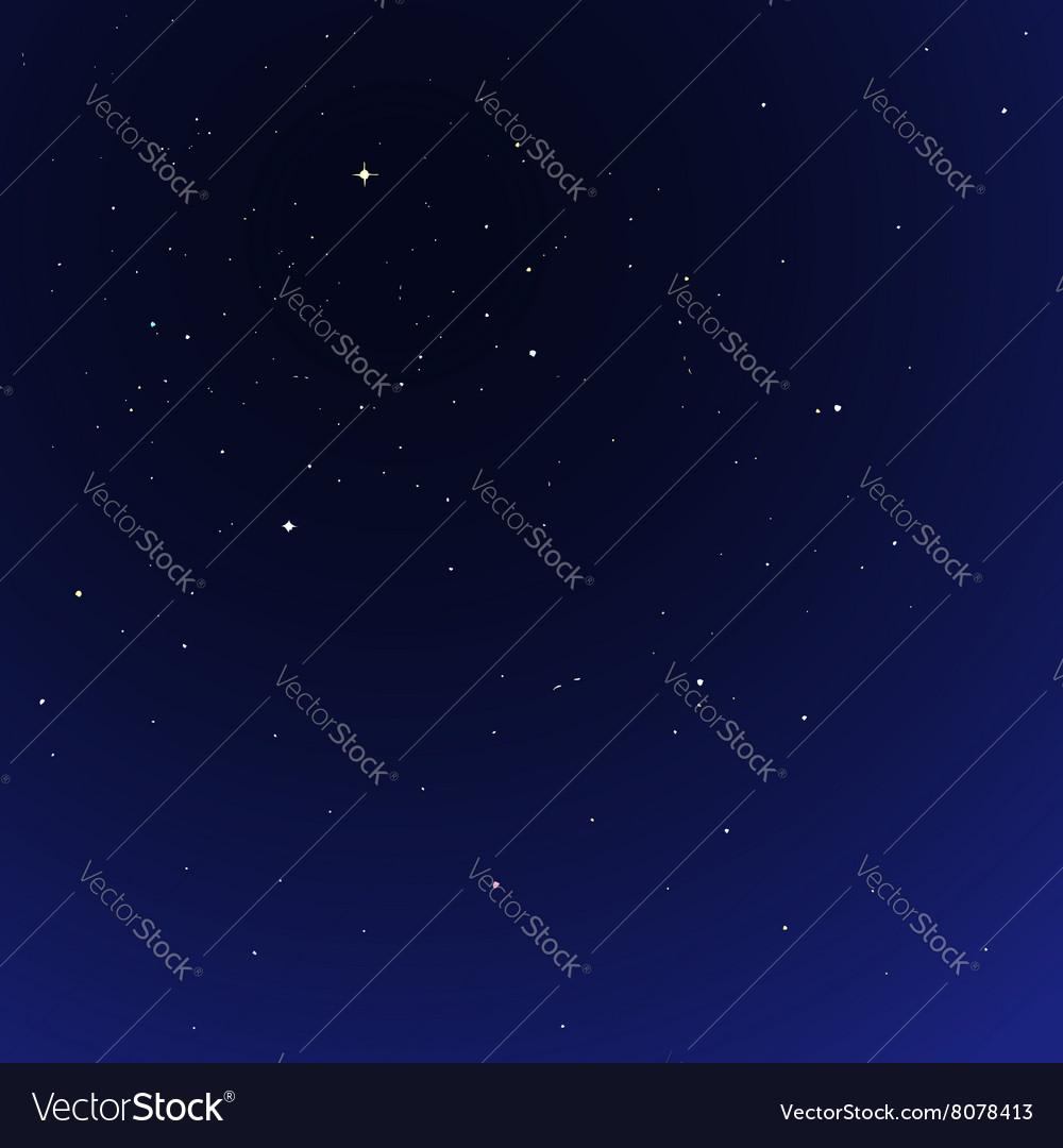 Night star sky cosmos vector image