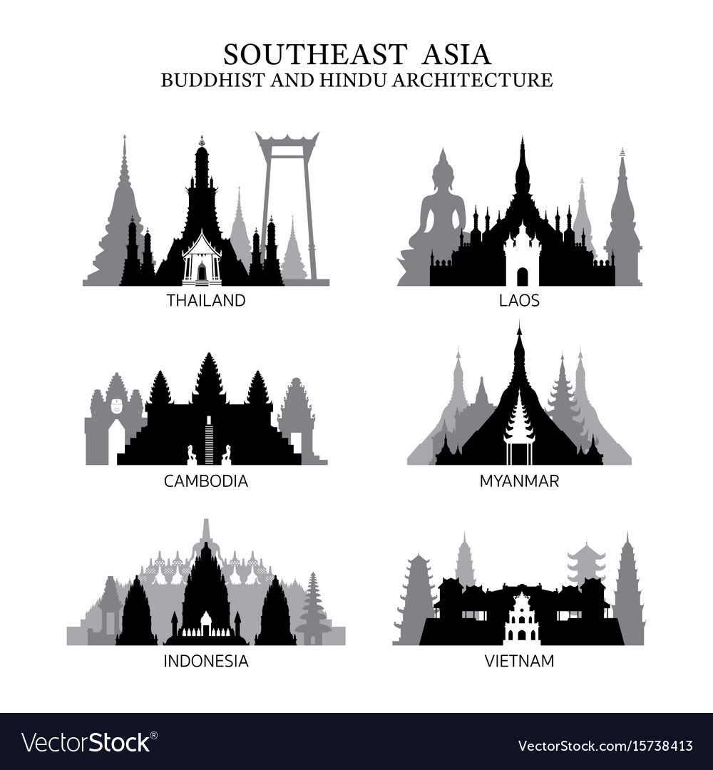 Southeast asia buddhist and hinduism architecture