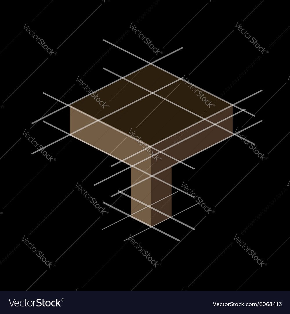 Structure with reference lines vector image