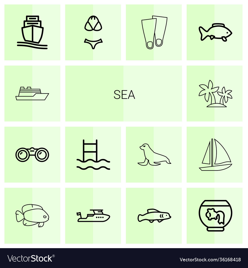 14 sea icons