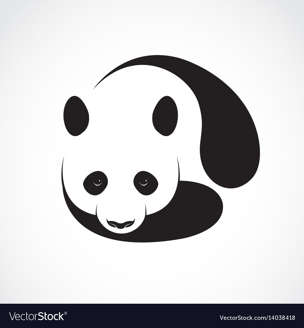 A panda design on a white background wild animals