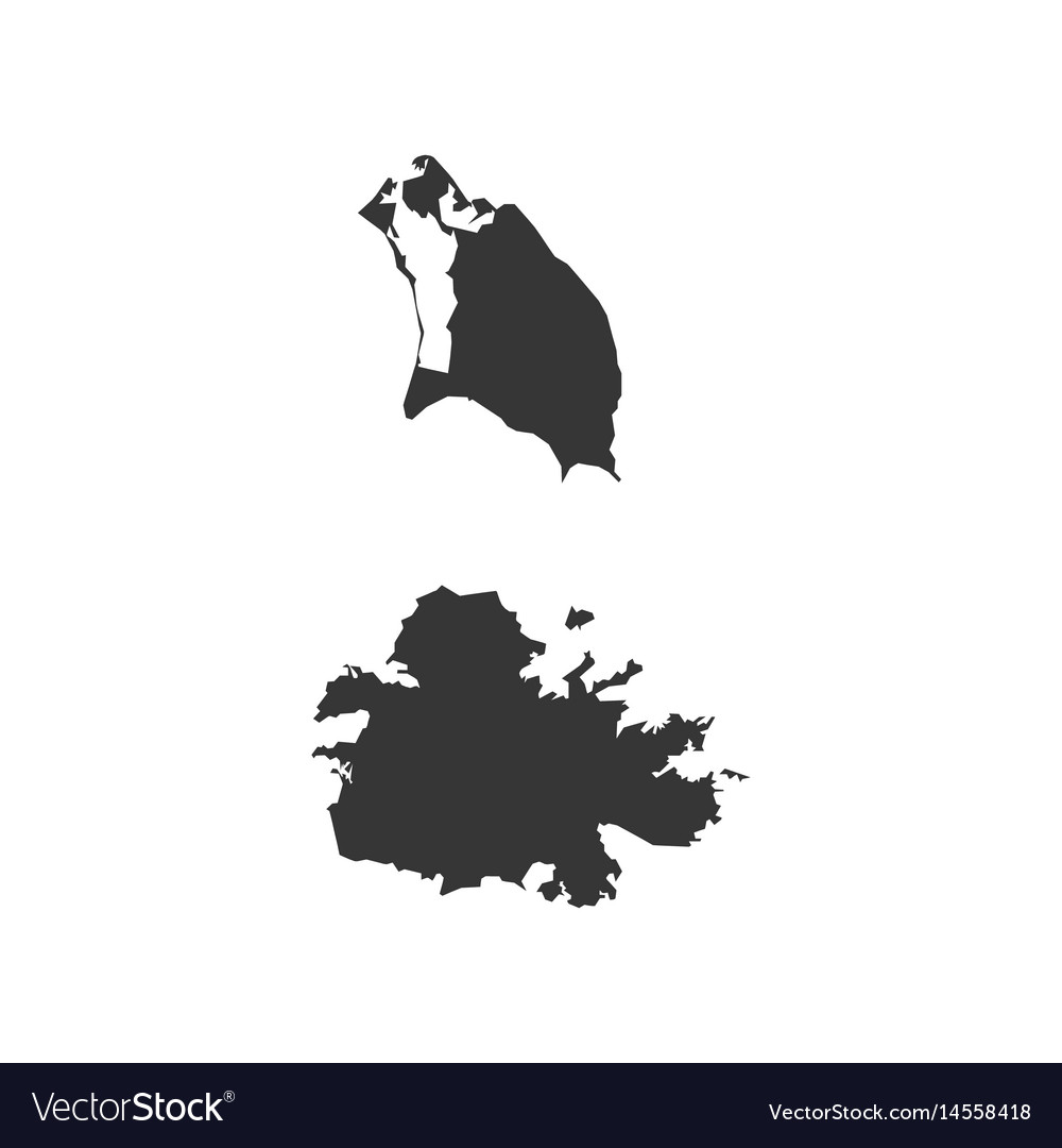 Antigua and barbuda map Royalty Free Vector Image
