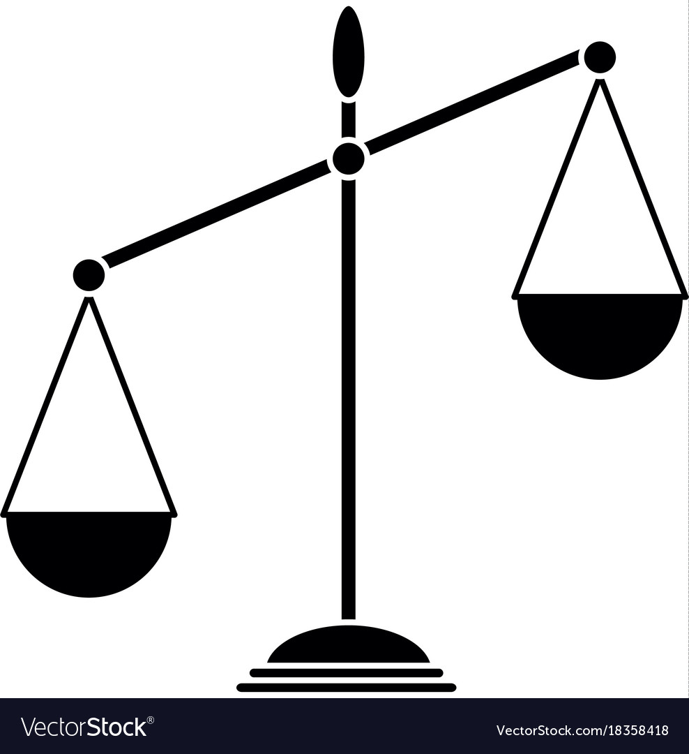 balance scale isolated icon royalty free vector image rh vectorstock com vector scale aircraft models vector scale figures
