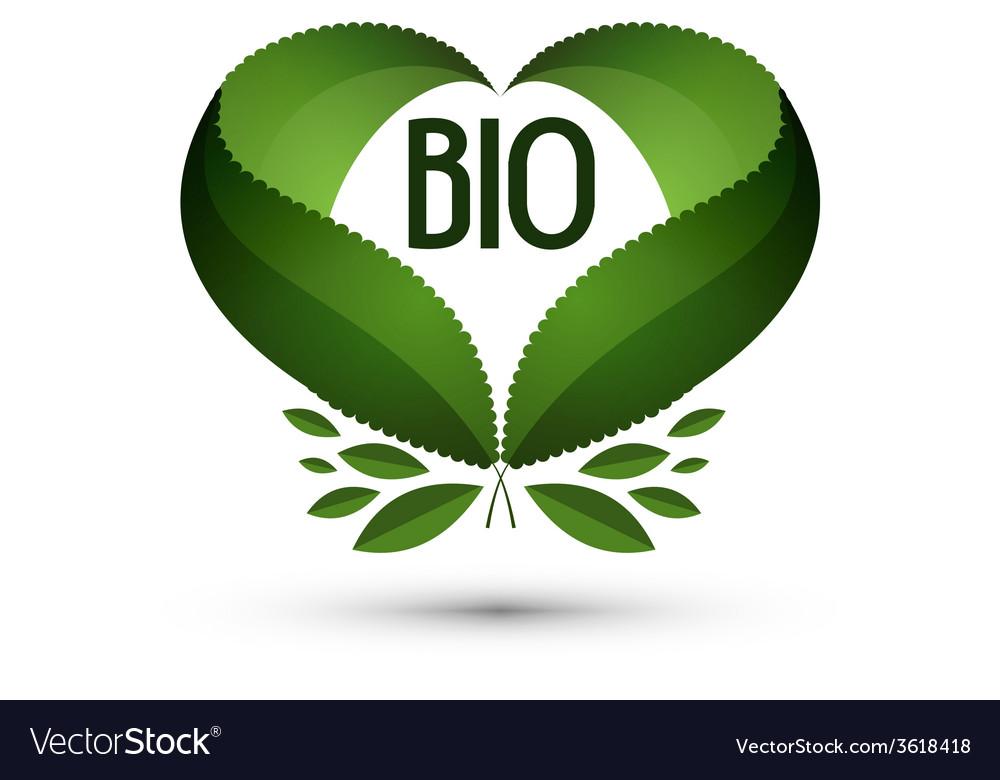 Bio Logo icon sign emblem template vector image