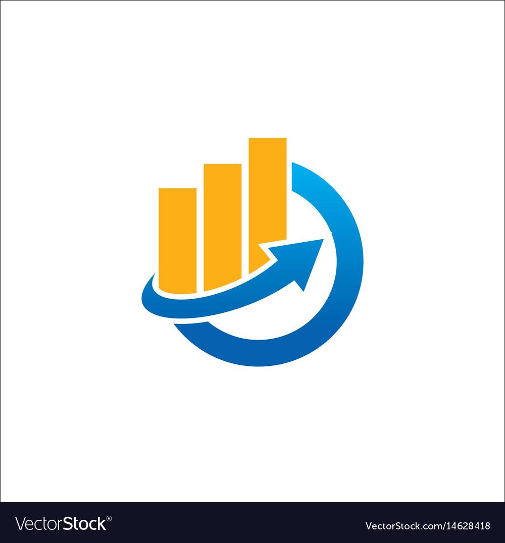 Business finance arrow logo