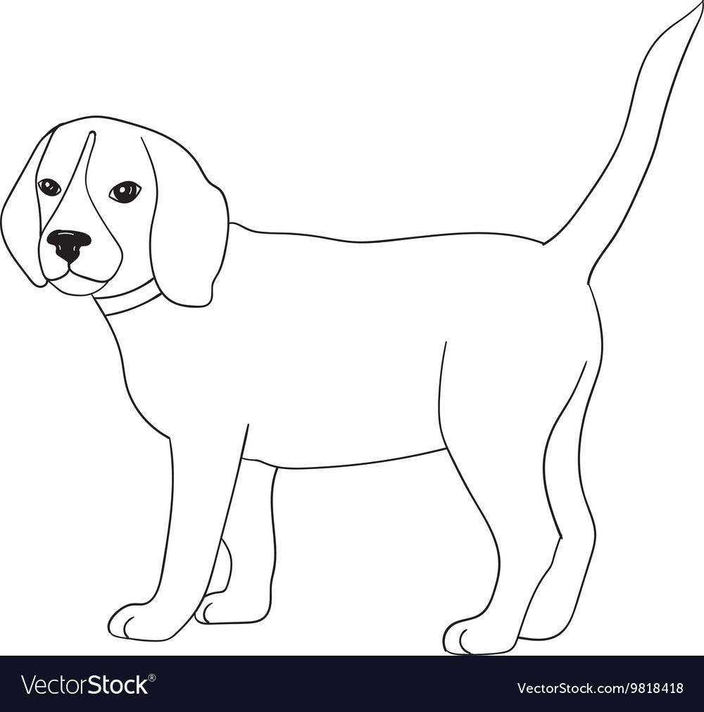 Dog adult antistress or children coloring page
