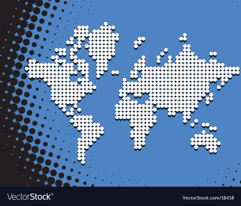 Dot map vector image