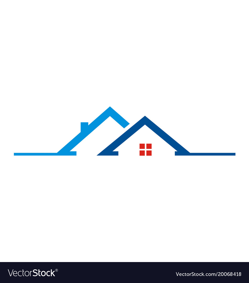 House roof building logo