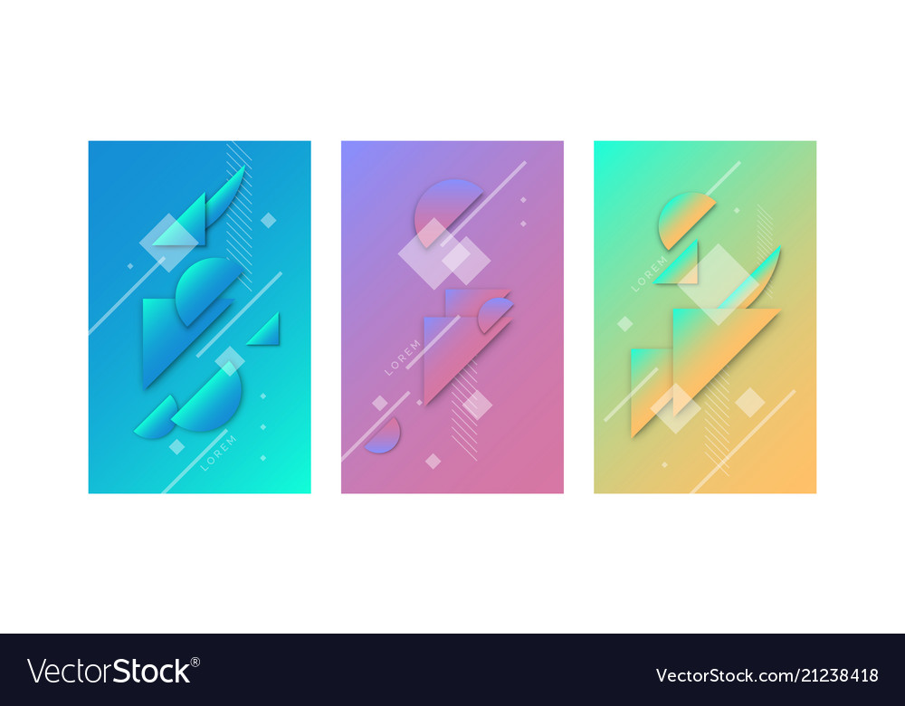 Modern collage of simple geometric shapes