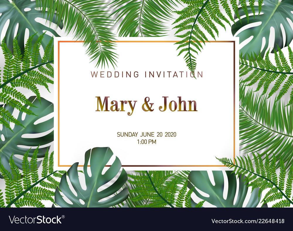 Nature wedding marriage event invitation card