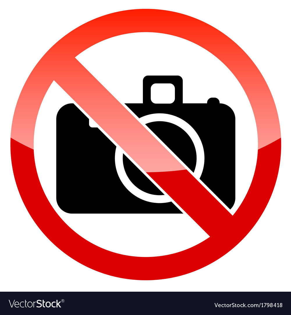 no photography sign royalty free vector image vectorstock rh vectorstock com photography vector icons photography vector icons