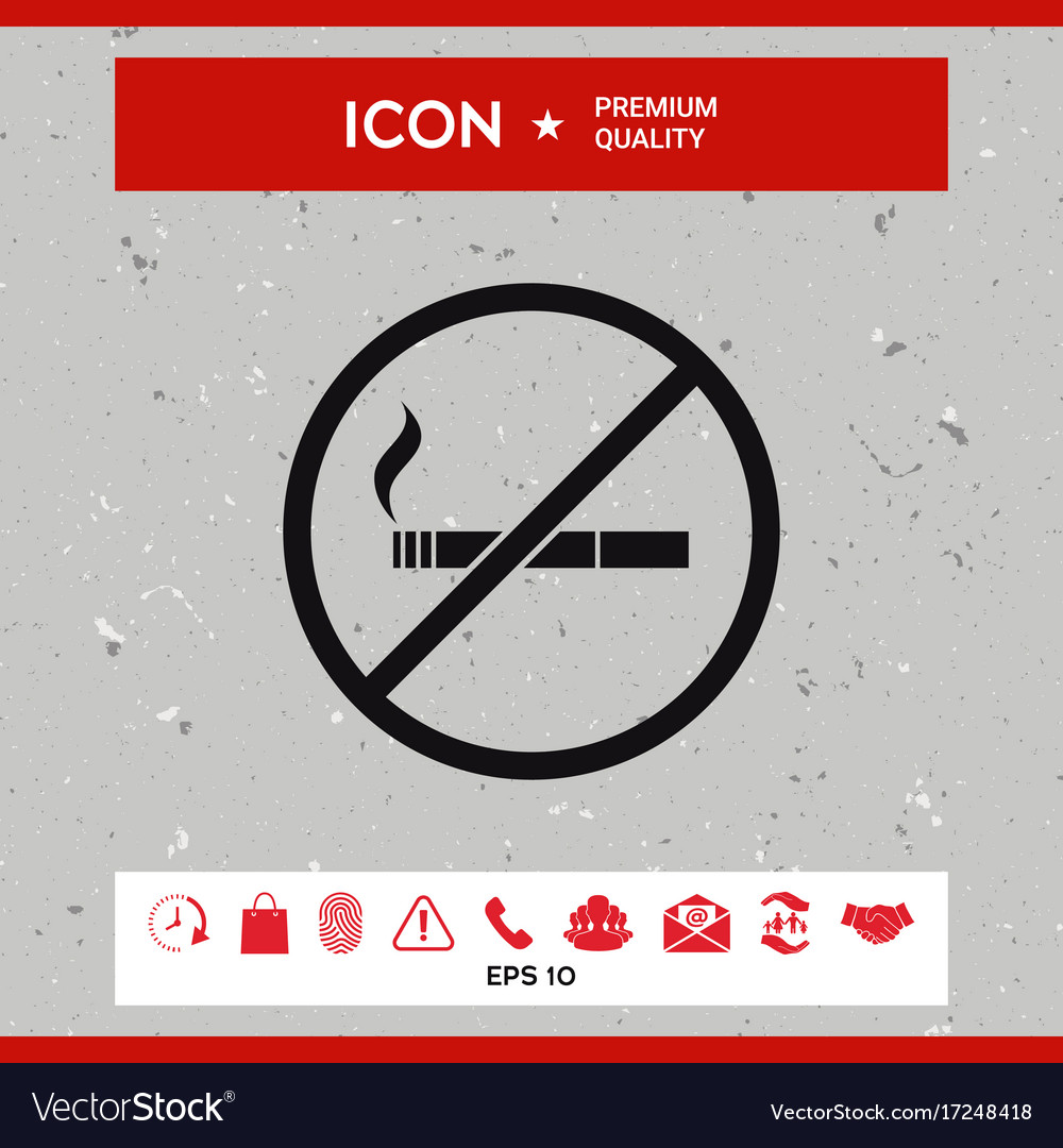 No smoking smoking ban icon cigarette vector image