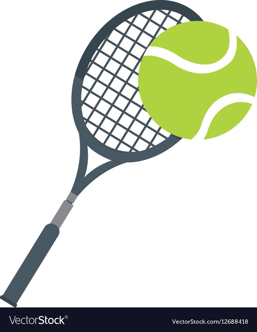 Racket ball tennis equipment icon