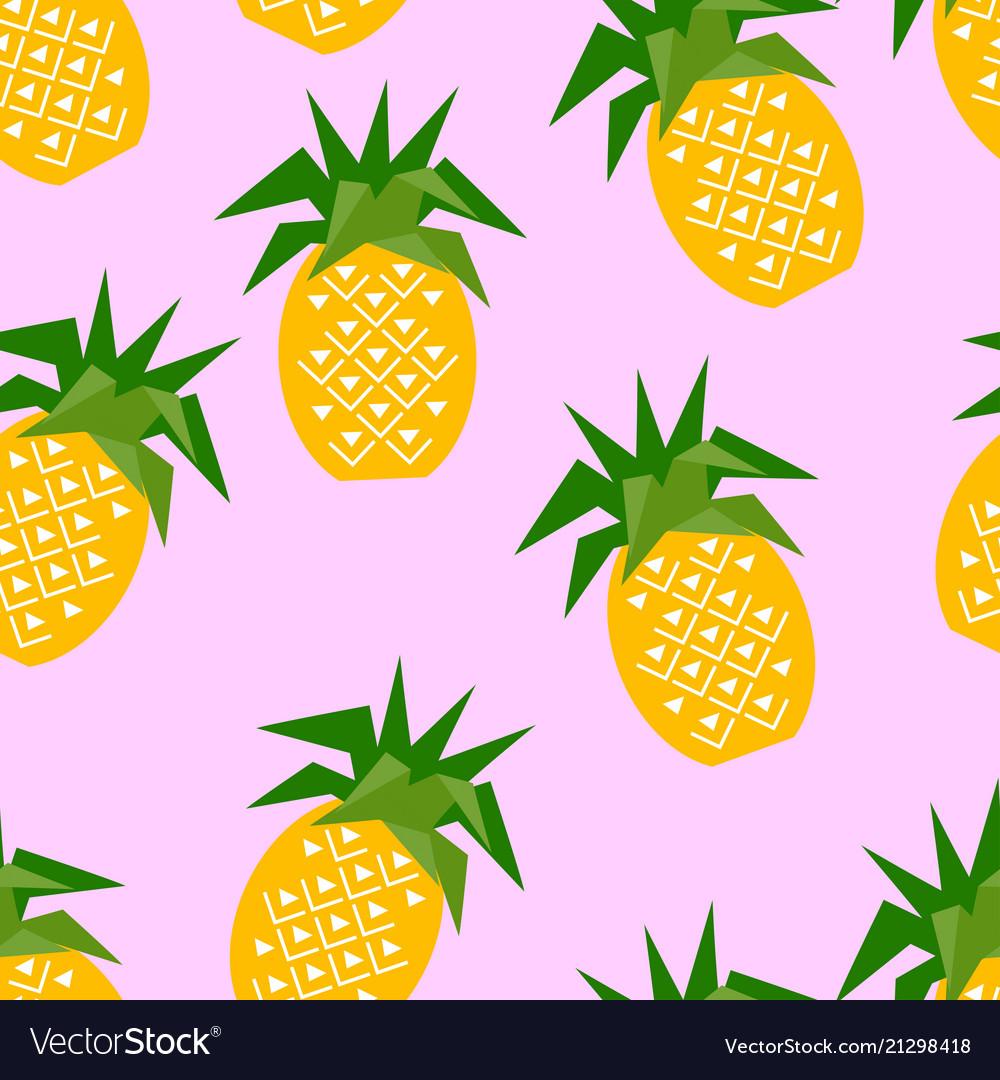 Seamless pineapple geometric pattern