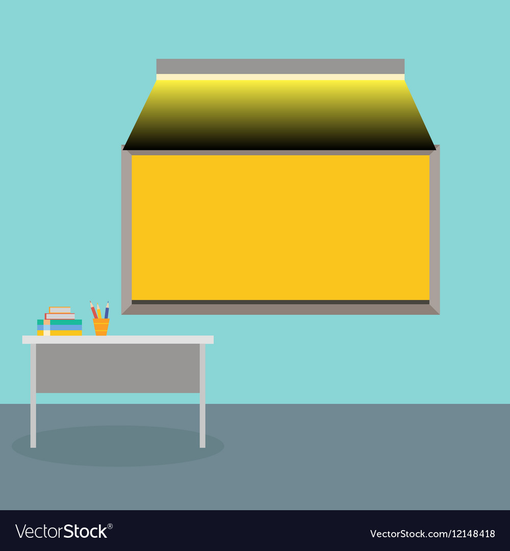 The interior is class with school Board vector image