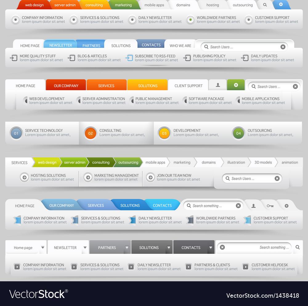 Web site design menu navigation