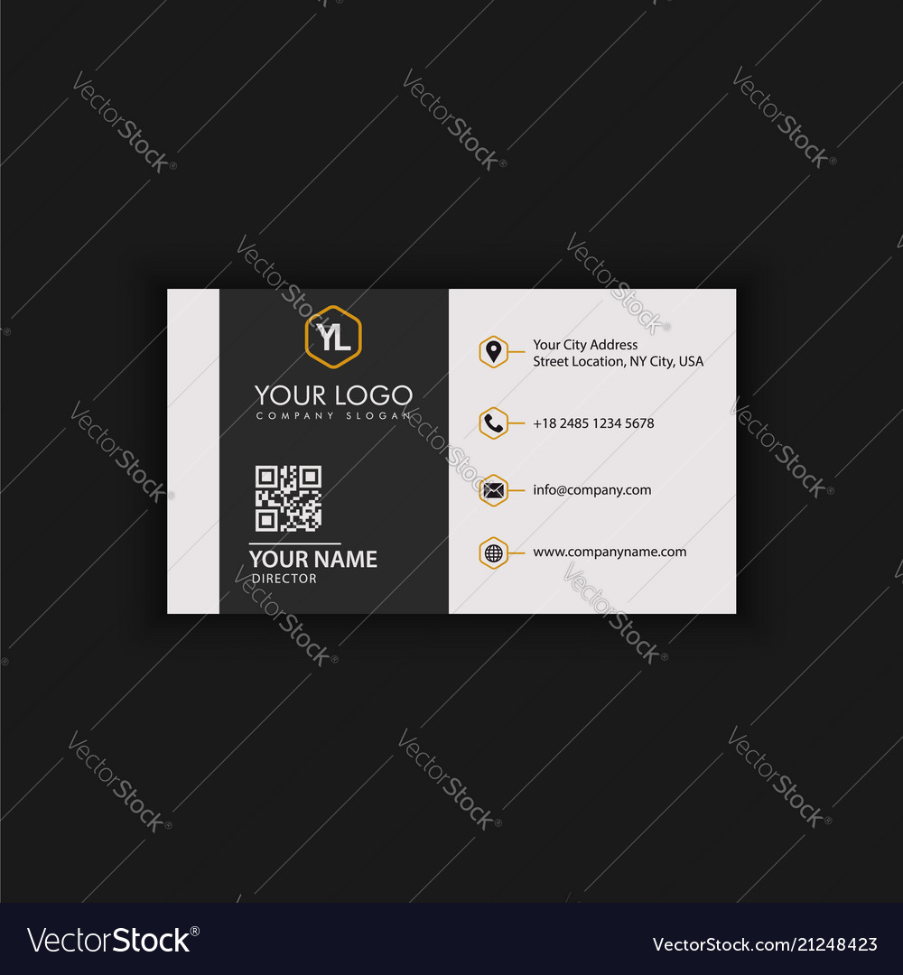 Black And Gold Elegant Business Card Royalty Free Vector