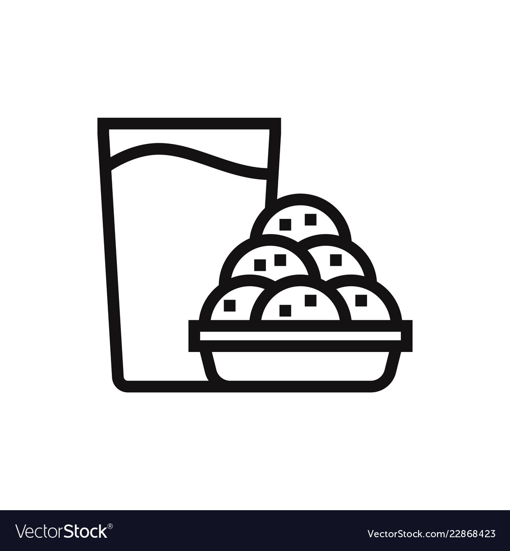 Cookies and milk icon