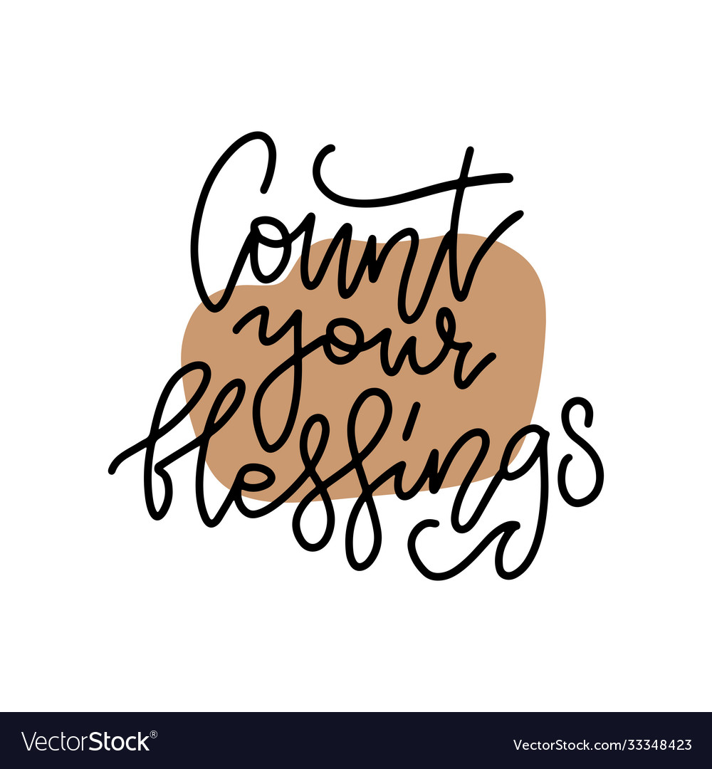 Count your blessings cozy holiday lettering
