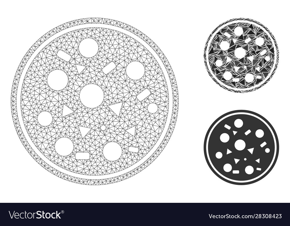 Entire pizza mesh carcass model
