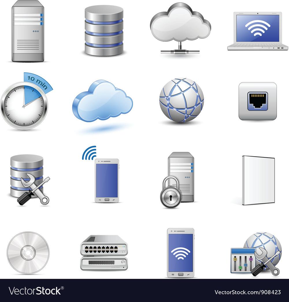 IT web hosting icons