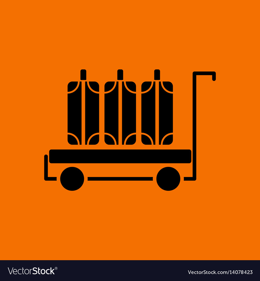 Luggage cart icon