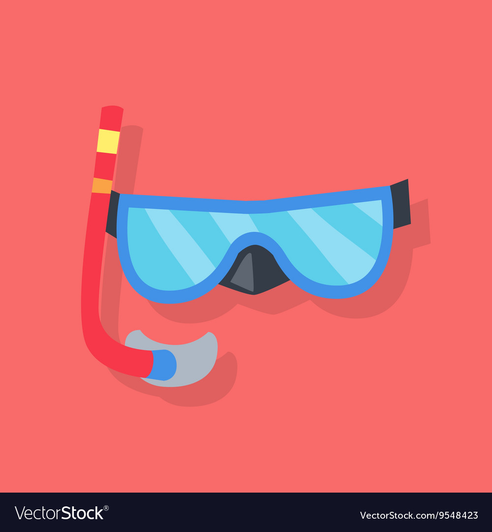 Mask and Tube for Diving vector image