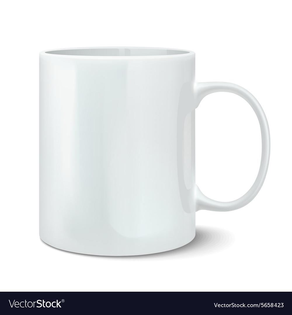Realistic white mug