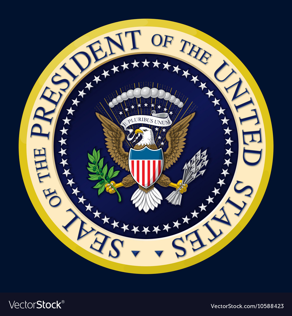 us presidential seal color royalty free vector image rh vectorstock com vice presidential seal vector presidential seal vector logo