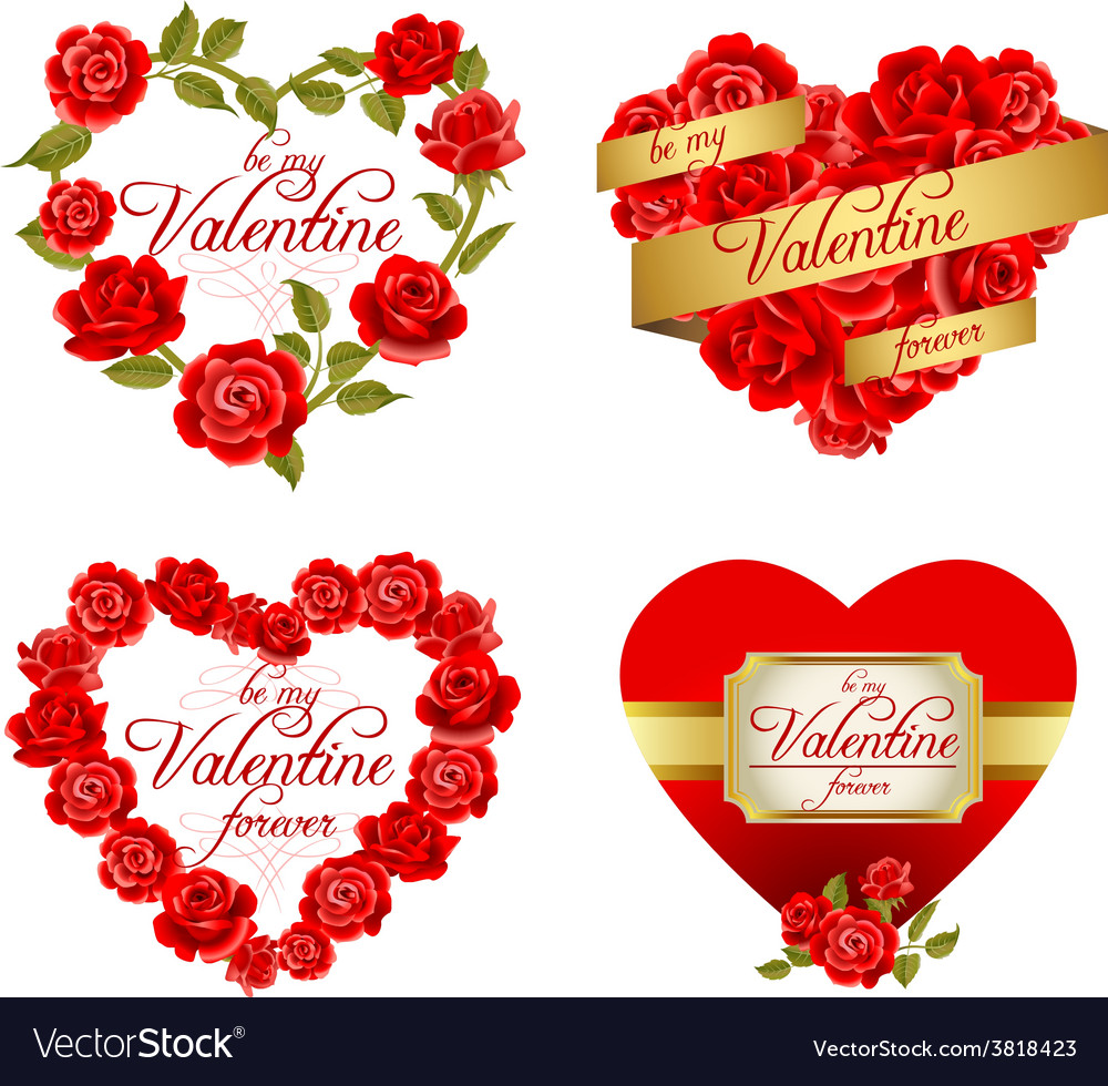 Valentines holiday frames Royalty Free Vector Image