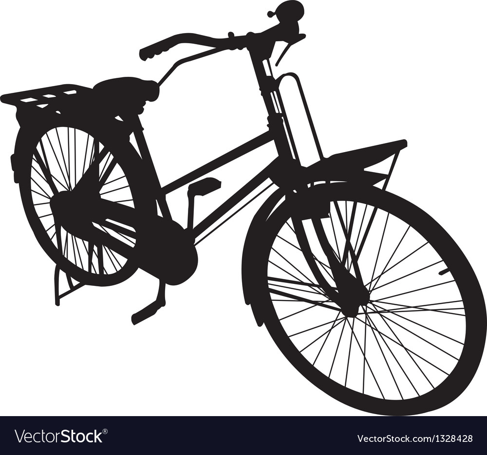 Bicycle bike siluate vector image