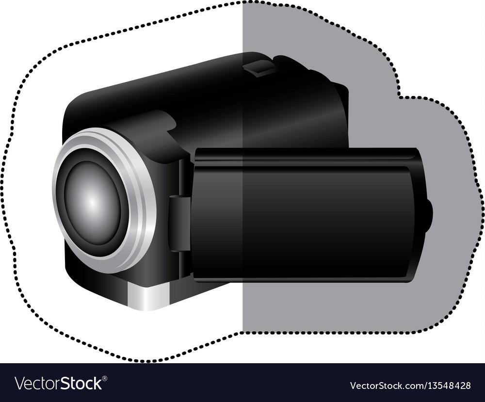Black camcorder icon image vector image