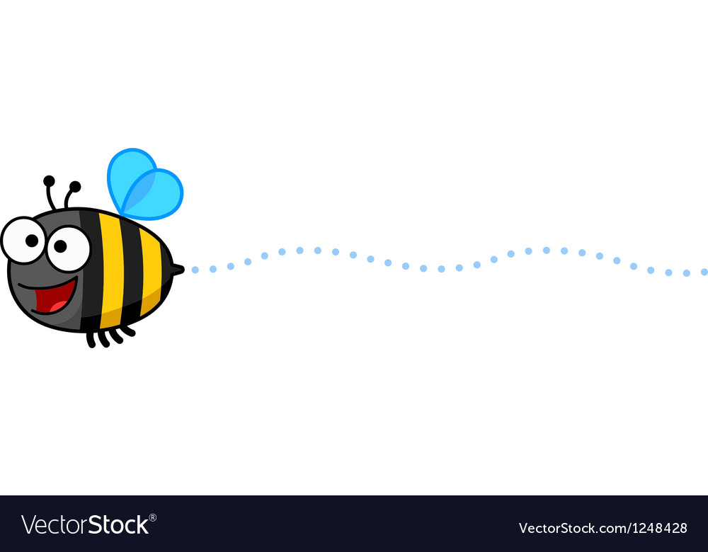 Cartoon Bee Buzzing vector image