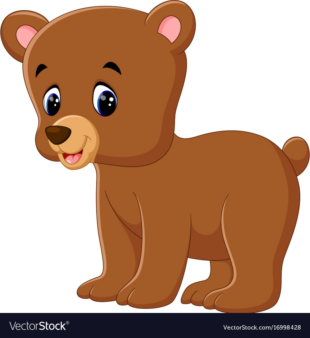 cute bear walking royalty free vector image vectorstock vectorstock