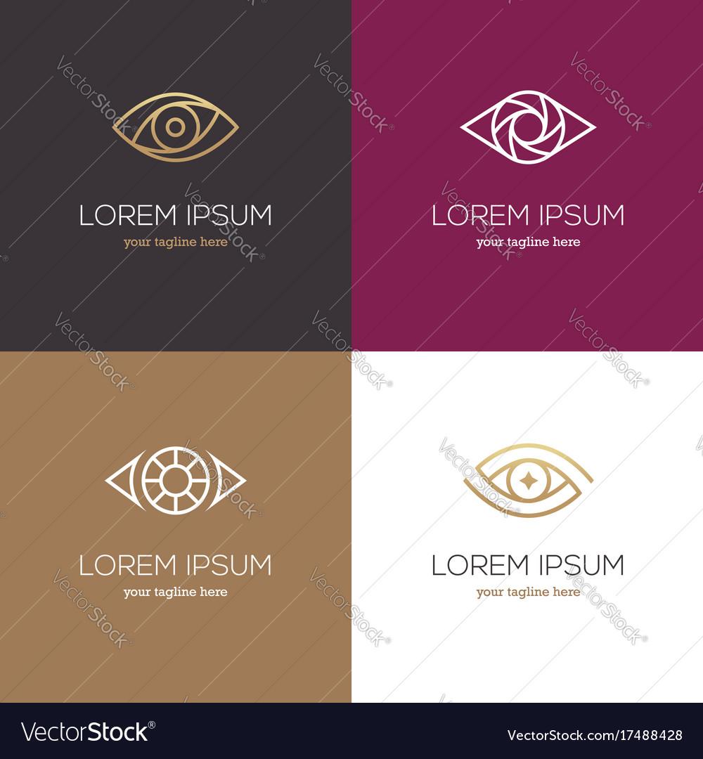 Four linear eye logo