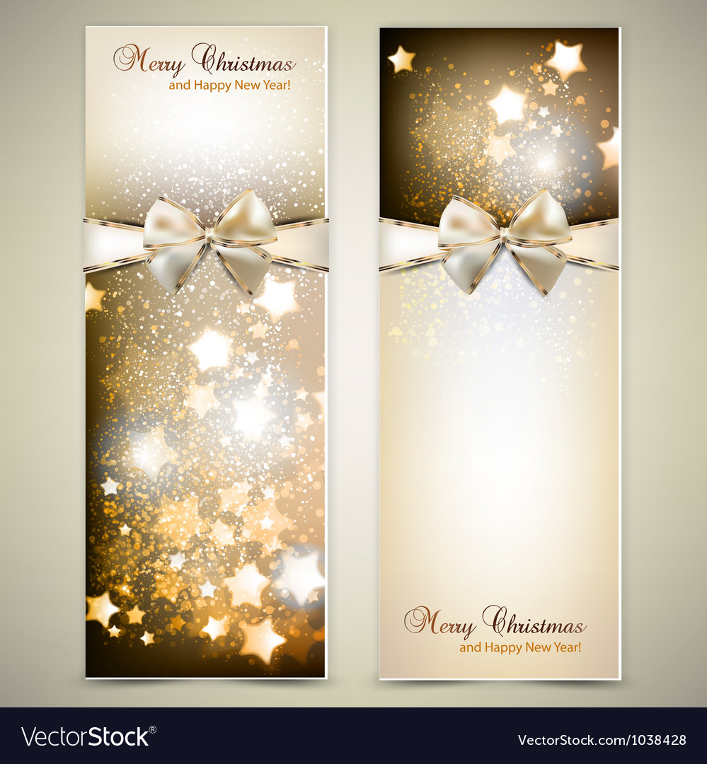 Greeting cards with white bows and copy space
