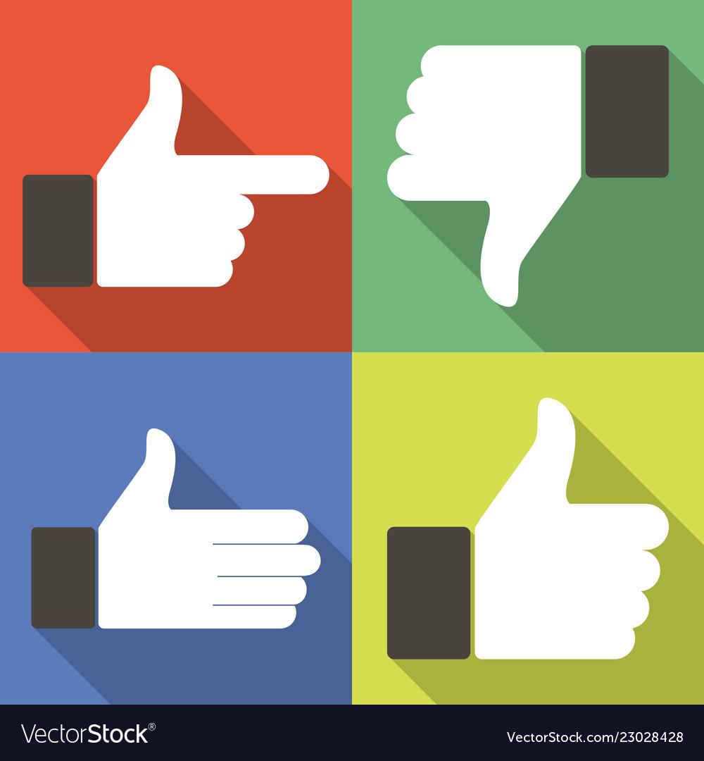 Icons for social network web app like symbol hand