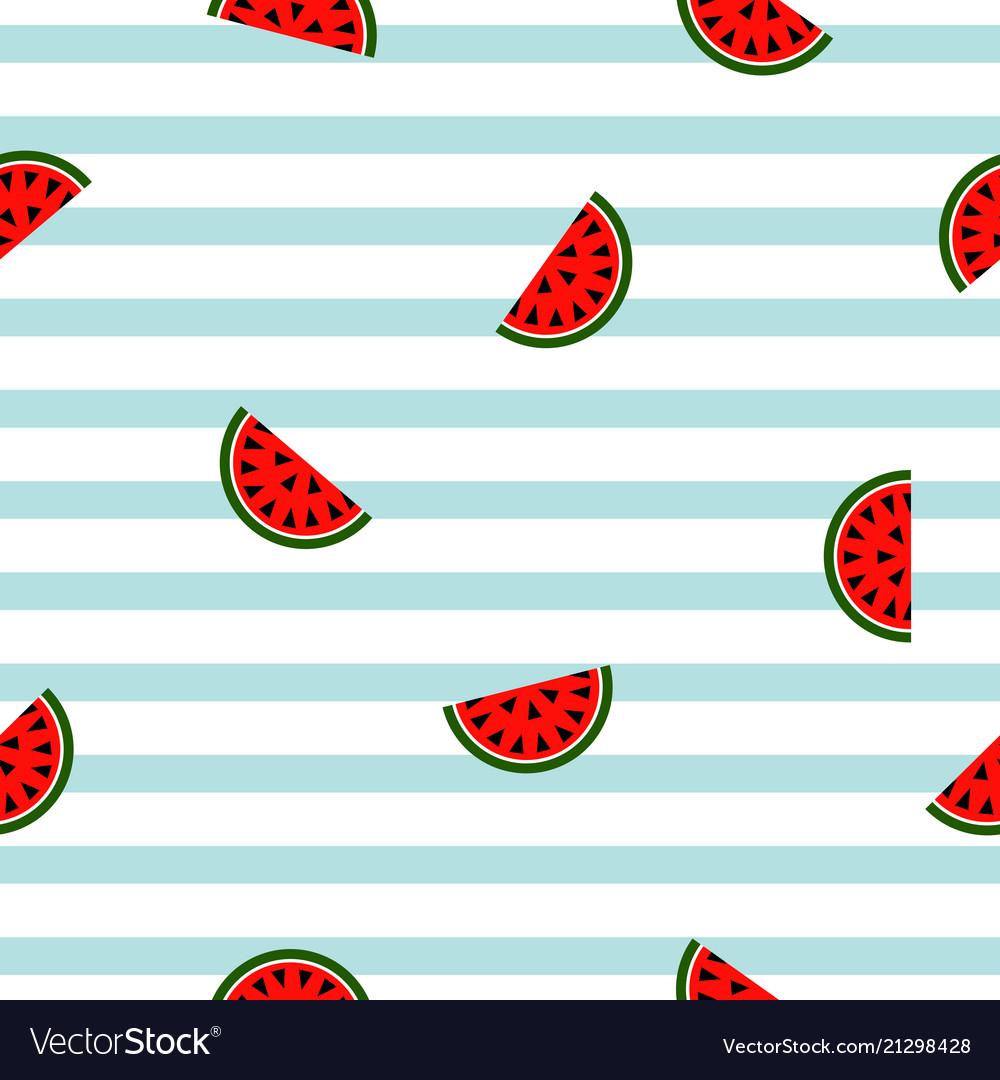 Seamless striped watermelon geometric pattern
