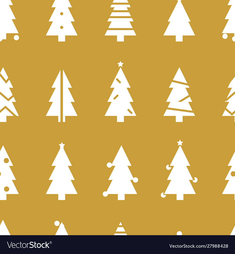 Simple christmas seamless pattern with christmas