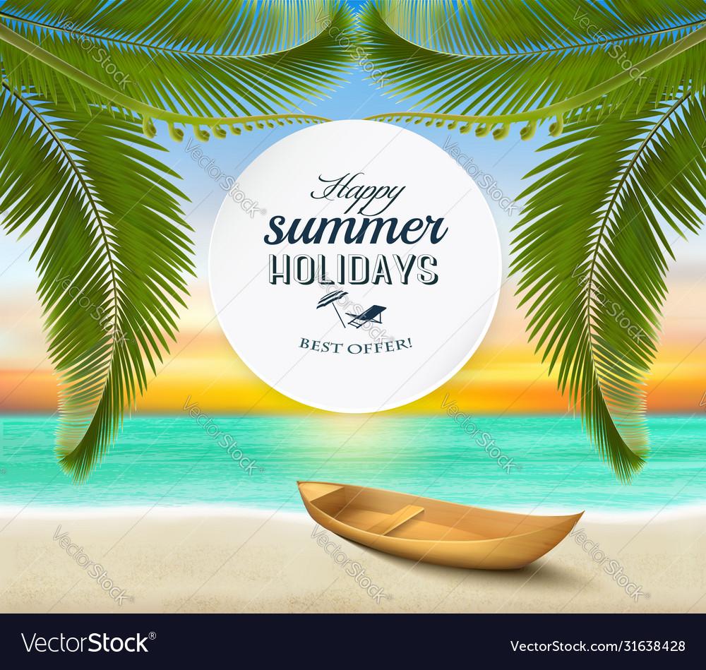 Summer holidays background tropical paradise