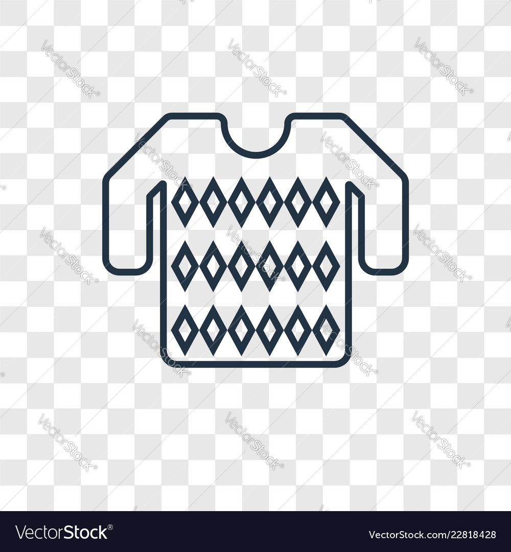 Sweater concept linear icon isolated on